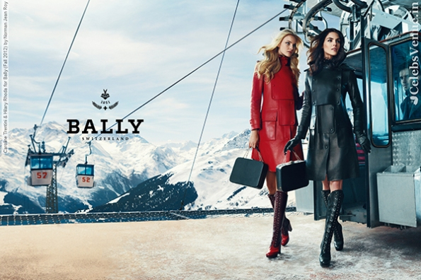 Caroline Trentini & Hilary Rhoda for Bally (Fall 2012) by Norman
